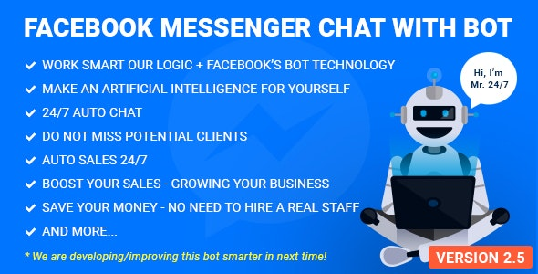 Download Facebook Messenger Chat with Bot v2.8 - WP Plugin Free / Nulled