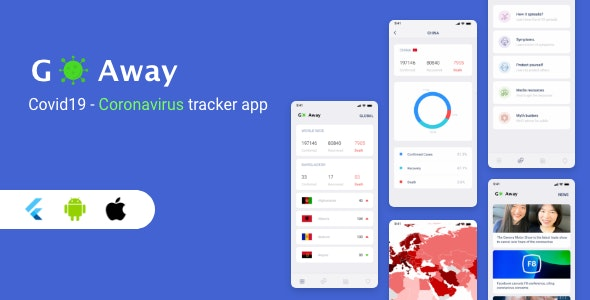 Download Go Away v1.0 - Flutter Coronavirus Tracker App Free / Nulled