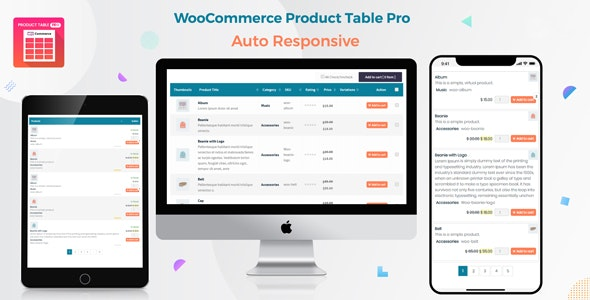 Download Woo Product Table Pro v6.0.4 - WooCommerce Product Table view solution Free / Nulled
