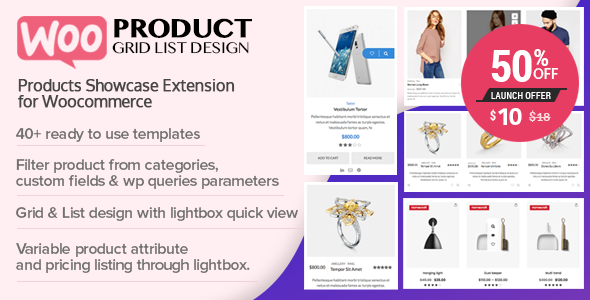 Download WOO Product Grid/List Design v1.0.5 - WooCommerce plugin Free / Nulled