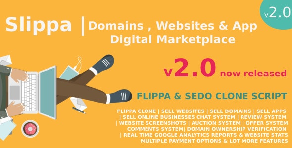 Download Slippa v2.0 - Domains,Website & App Marketplace PHP Script Free / Nulled