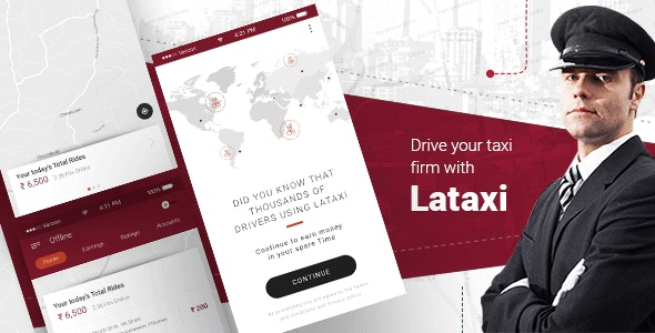 Download LaTaxi v1.0.20 - On Demand Taxi Booking Application Script Free / Nulled