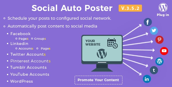 Download Social Auto Poster v3.5.2 - WordPress Plugin Free / Nulled