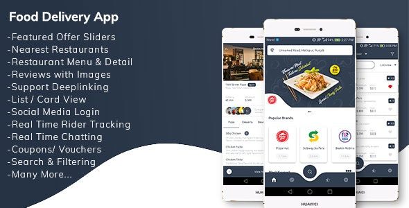 Download Restaurant Food Delivery App with Delivery Boy v1.0 - Mobile App Free / Nulled