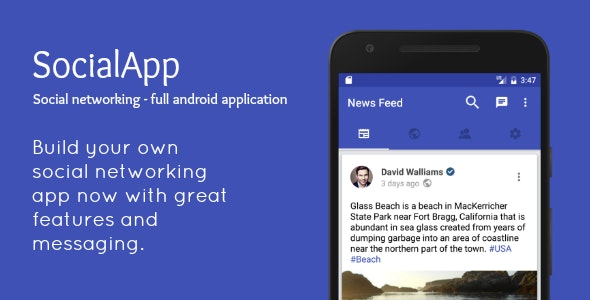 Download SocialApp  v2.0 - Full Android Application Free / Nulled