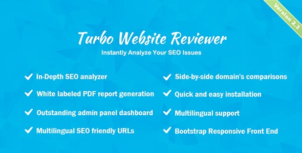 Download Turbo Website Reviewer v2.3 - In-depth SEO Analysis Tool - nulled Free / Nulled