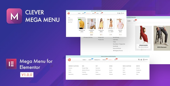 Download Clever Mega Menu for Elementor v1.0.8 - WP Plugin Free / Nulled
