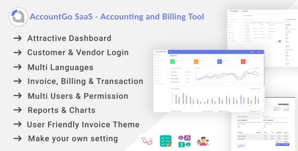 Download AccountGo SaaS v1.0 - Accounting and Billing Tool Free / Nulled