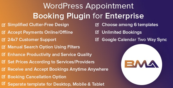 Download BMA v1.2.3 - WordPress Appointment Booking Plugin for Enterprise Free / Nulled