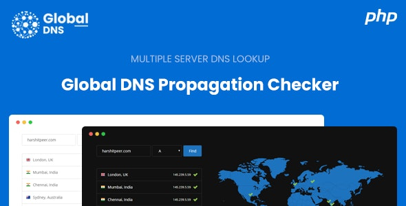 Download Global DNS v1.0 - Multiple Server - DNS Propagation Checker - PHP Free / Nulled