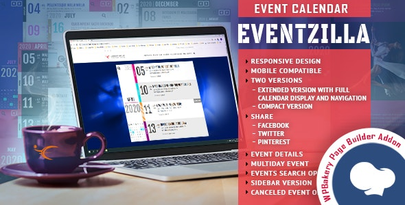 Download EventZilla  v1.0 - Event Calendar - Addon For WPBakery Page Builder Free / Nulled
