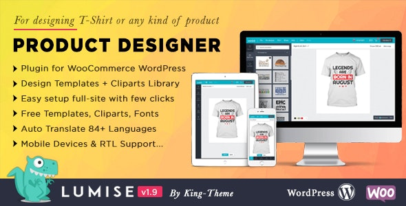 Download Lumise Product Designer v1.9.5 - WooCommerce WordPress Free / Nulled