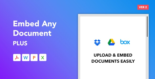 Download Embed Any Document Plus v2.5.0 - WordPress Plugin Free / Nulled