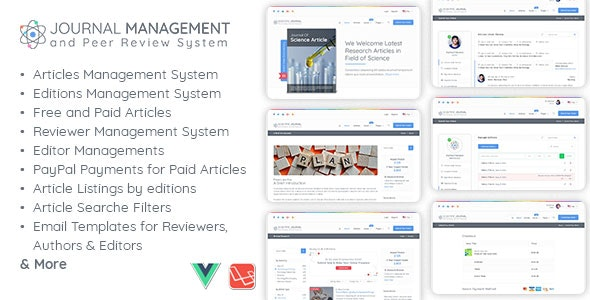 Download Journal Management and Peer Review System v1.1 - Nulled Free / Nulled