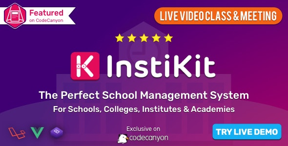 Download InstiKit School v2.9.0 - School Management System & School ERP - nulled Free / Nulled