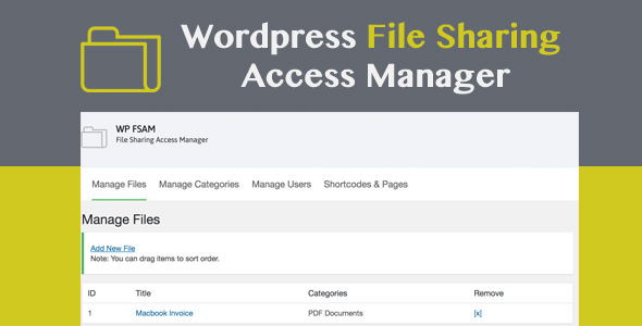 Download WP FSAM v1.1 - File Sharing Access Manager Free / Nulled