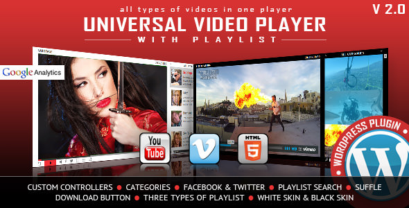 Download Universal Video Player v3.3.0 - WordPress Plugin Free / Nulled