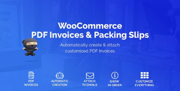 Download WooCommerce PDF Invoices & Packing Slips v1.3.12 - WooCommerce plugin Free / Nulled