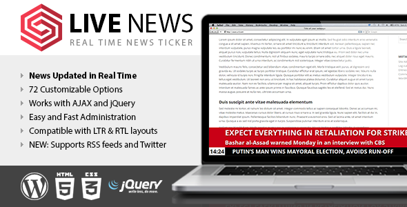 Download Live News v2.10 - Real Time News Ticker Free / Nulled