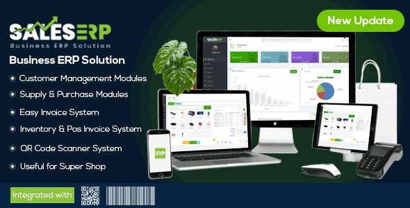 Download ERP v9.5 - Business ERP Solution / Product / Shop / Company Management Free / Nulled