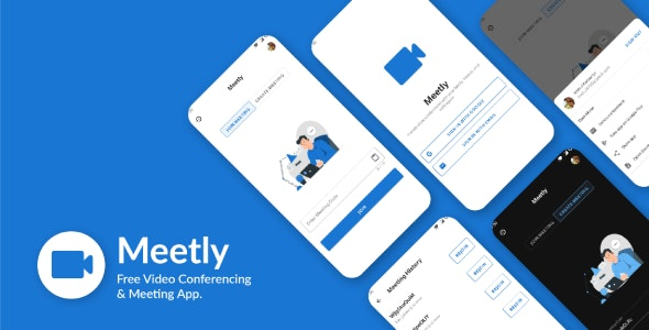 Download Meetly  v1.13 - Free Video Conferencing & Meeting App Free / Nulled