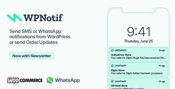 Download WPNotif v2.2.0.5 - WordPress SMS & WhatsApp Notifications Free / Nulled