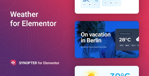 Download Synopter  v1.0.0 - Weather for Elementor Free / Nulled