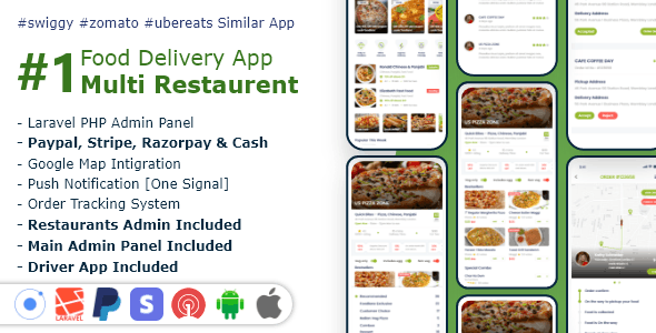 Download Food, Grocery, Meat Delivery Mobile App with Admin Panel v2.0.0 - Mobile App Free / Nulled
