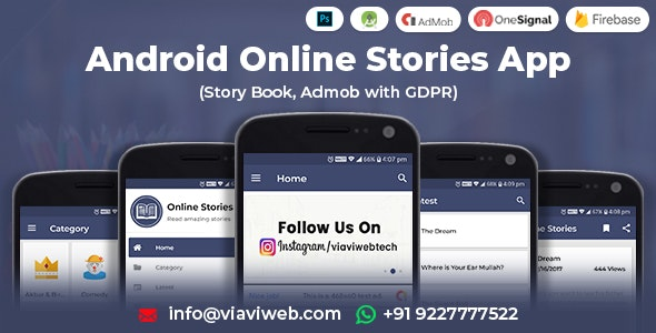 Download Android Online Stories App (Story Book, Admob with GDPR) v1.1 - Mobile App Free / Nulled