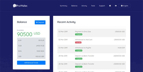 Download ProWallet v2.0 - Electronic Online Wallet Free / Nulled