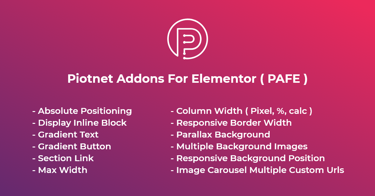 Download Piotnet Addons Pro For Elementor v6.2.2 - WP Plugin Free / Nulled