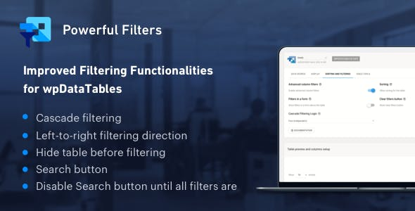 Download Powerful Filters for wpDataTables  v1.1 - WP Plugin Free / Nulled