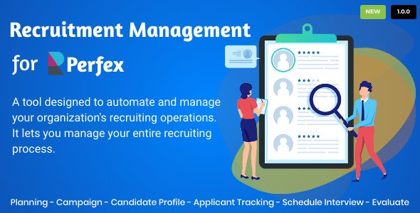 Download Recruitment Management for Perfex CRM  v1.0 - Nulled Free / Nulled