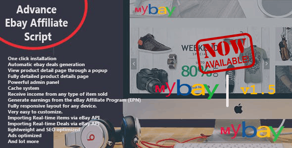 Download Mybay v1.5 - Fully Automated Advanced eBay Affiliate Script Free / Nulled