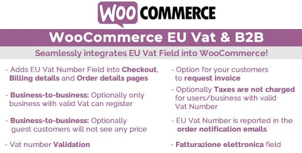 Download WooCommerce Eu Vat & B2B v10.1 - WooCommerce plugin Free / Nulled