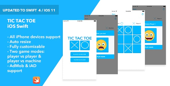 Download Tic Tac Toe iOS App v1.0 - Mobile App Free / Nulled