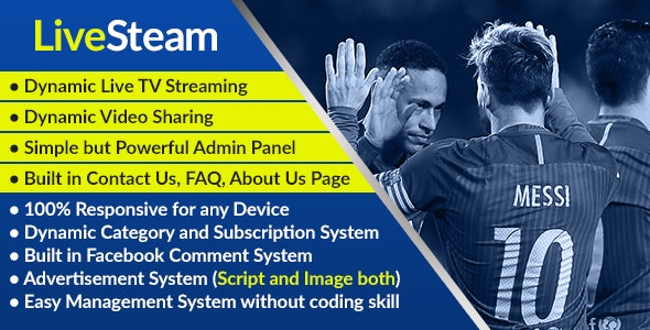 Download LiveStream v1.0 - Online Video and Live Streaming Management System Free / Nulled