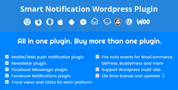 Download Smart Notification Wordpress Plugin  v9.2.71 - Web & Mobile Push, FB Messenger, FB Notifications & Newsletter. Free / Nulled