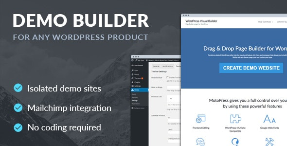 Download Demo Builder for any WordPress Product  v1.7.0 - WP Plugin Free / Nulled