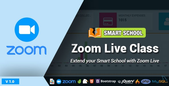 Download Smart School Zoom Live Class v1.0 - Nulled Free / Nulled