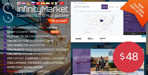 Download Infinity Market  v1.6.6 - Classified Ads Script Free / Nulled
