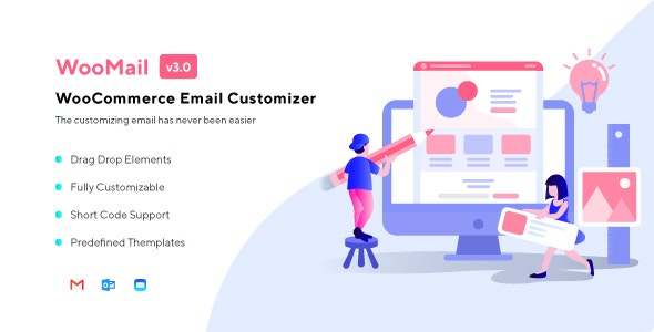 Download WooMail  v3.0.12 - WooCommerce Email Customizer Free / Nulled