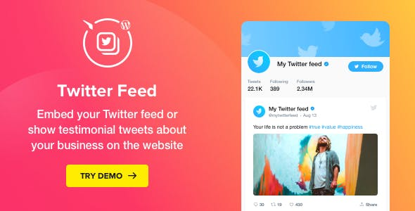 Download Twitter Feed v1.5.0 - WordPress Twitter Plugin Free / Nulled