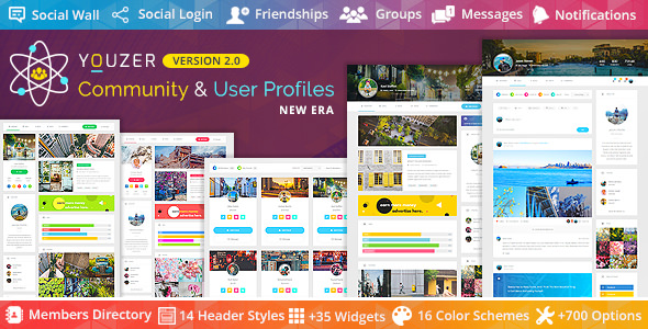 Download Youzer v2.5.1 - Buddypress Community & Wordpress User Profile Plugin Free / Nulled
