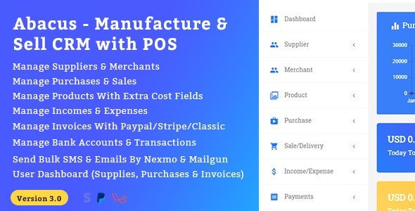 Download Abacus v3.0 - Manufacture & Sale CRM with POS Free / Nulled