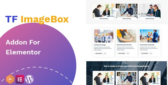 Download TF ImageBox Addon For Elementor v1.0 - WP Plugin Free / Nulled