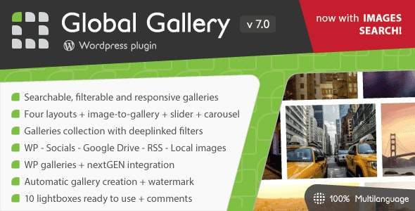 Download Global Gallery v7.0.5 - Wordpress Responsive Gallery Free / Nulled