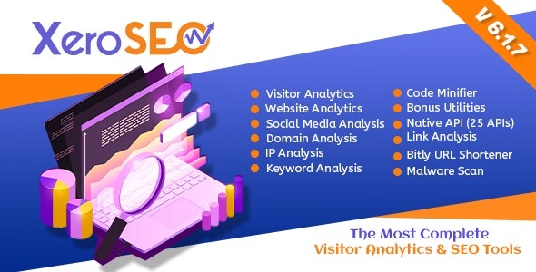 Download XeroSEO v6.1.7 - The Most Complete Visitor Analytics & SEO Tools Free / Nulled