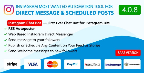 Download DM Pilot v4.0.8 - Instagram Chat Bot, Web Direct Messenger & Scheduled Posts - nulled Free / Nulled