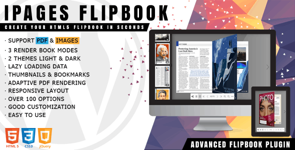 Download iPages Flipbook For WordPress  v1.3.4 Free / Nulled